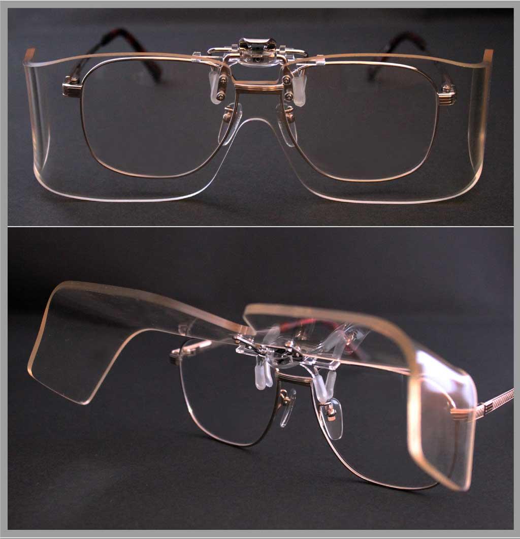 眼鏡に簡単装着