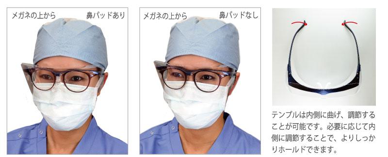 メガネの上からのご使用方法について